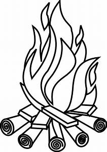 Firewood Black And White Clipart - Clipart Kid | Camping ...