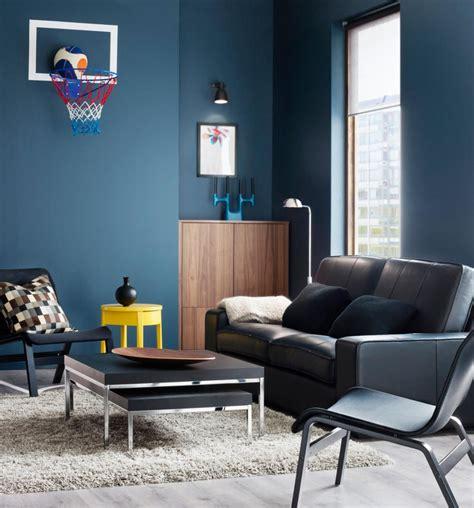 HD wallpapers salas decoradas en color gris y azul