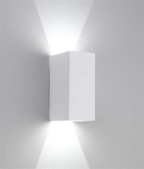 led sleek up and plaster wall light