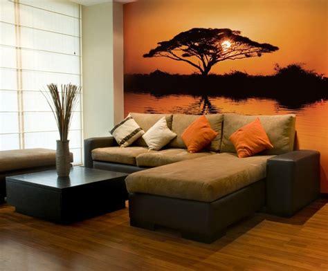 canapé style africain poster mural thème afrique pour un caractère sauvage unique