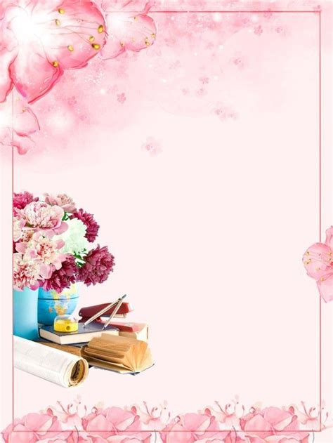 fresh pink teachers day flowers courier posters flower