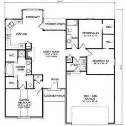3 bedroom floor plans with garage 1550 square 3 bedrooms 2 batrooms on 2 levels house plan 14170 cottage house plans
