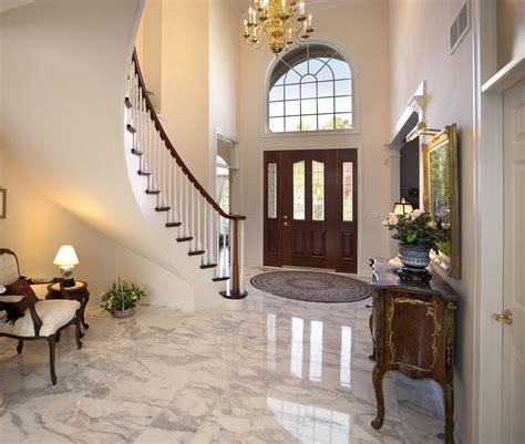 install marble floor tiles