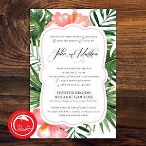 hibiscuswatercolour std2 etsy pocadot invitations With tropical wedding invitations australia
