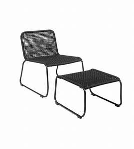 Repose Pied Design : chaise et repose pied en m tal noir de la marque bloomingville r ~ Teatrodelosmanantiales.com Idées de Décoration