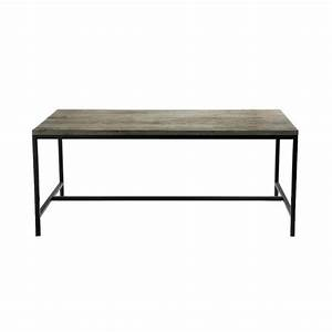 solid wood and metal industrial dining table w 178cm long With maison du monde tables