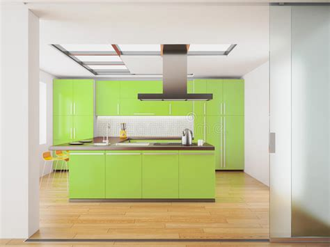 modern green kitchen modern green kitchen stock illustration image of house 4202