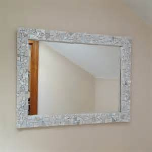 mosaic white wall mirror decorative bathroom or by