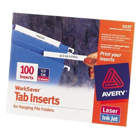 8 Tab Insert Dividers Crd 60960 Avery Big Tab Dividers Two Slash