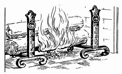 Andirons Andiron Fireplace Psf Fire Drawing Collaboration