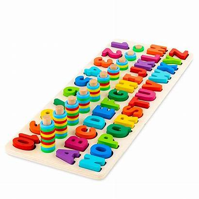 Numbers Wooden Puzzle Number Toy Alphabet Letters