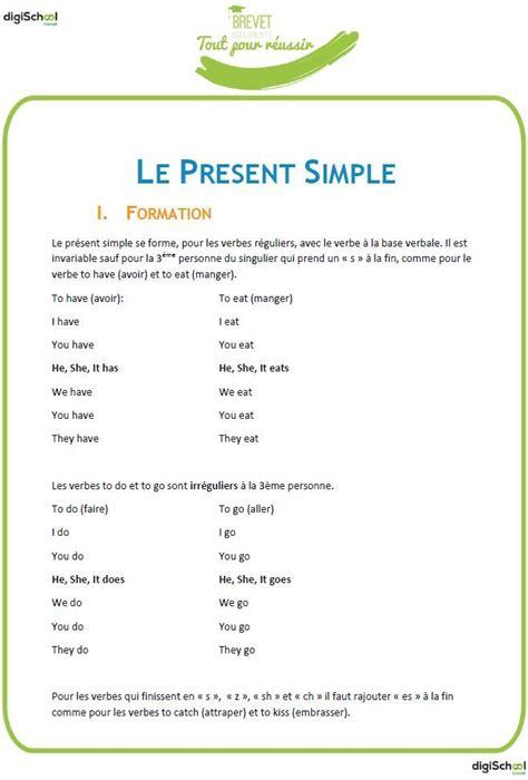 les 25 meilleures id 233 es concernant present simple anglais sur esl ponctuation en