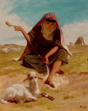 The Irish Piper Artwork Frederick Goodall Oil Painting