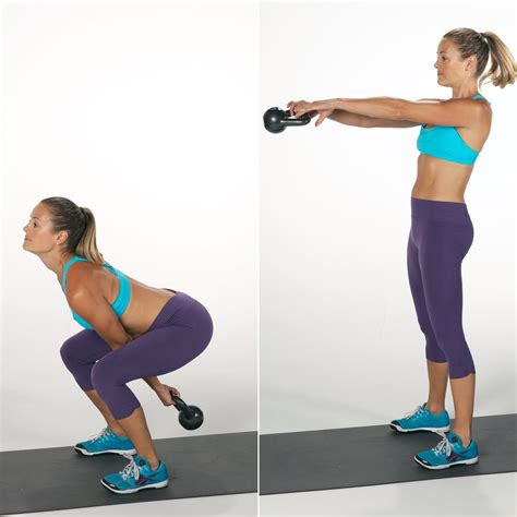 kettlebell squat swing exercises popsugar weight fitness loss