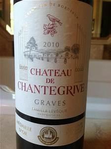 2010 Ch U00e2teau De Chantegrive Graves  France  Bordeaux