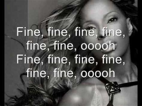 Mary J Blige- just fine [+lyrics] - YouTube