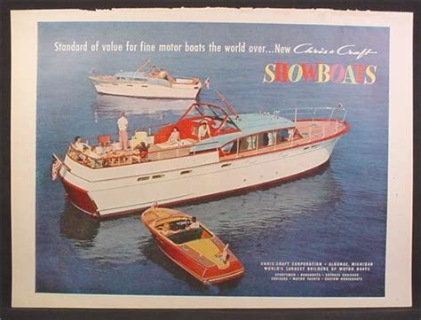 Chris Craft Boats Book by Magazine Ad For Chris Craft Wooden Boats Yacht Runabout