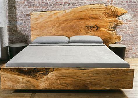 edge slabwood platform beds contemporary luxury