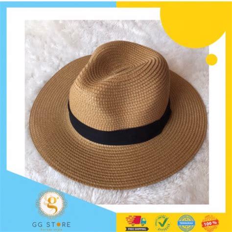 tp069 steve fedora hat topi pantai pria batam shopee indonesia