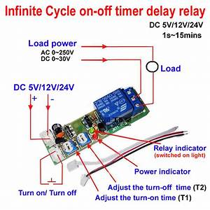 Dc 12v Infinite Cycle Delay Timing Timer Relay On Off Switch Loop Module Trigger 699972501297