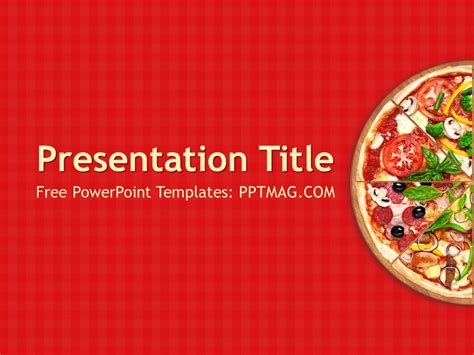 pizza template free pizza powerpoint template pptmag