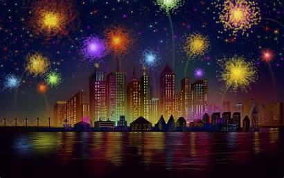 Birthday Happy Fireworks York Celebration Night Independence