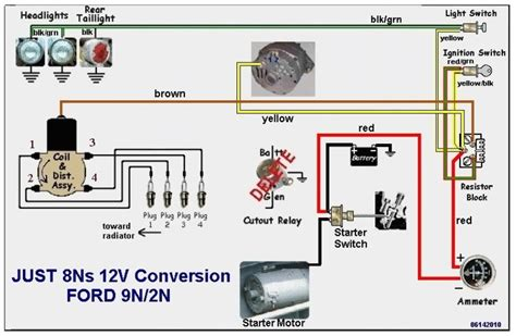 Ford Tractor Volt Conversion Circuit