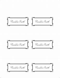10 best images of place card template word printable With table placement cards templates