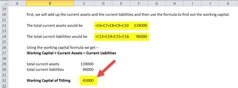 working capital formula   calculate working capital