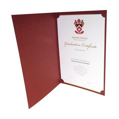 certificates testamurs covers folders embellishing group
