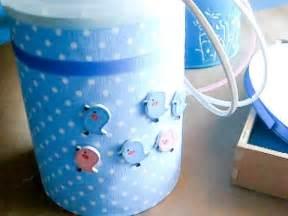 alcancia de tarros de leche decoradas  fiesta infantil