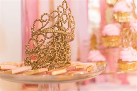 pink  gold princess  birthday party pizzazzerie