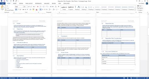 disposition plan template