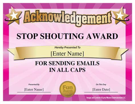 101 funny office awards from comedian larry weaver www