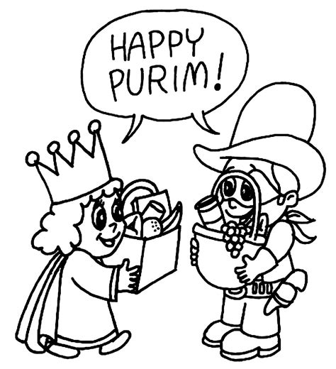 pictures to color purim coloring pages