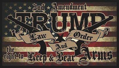 trump law order  amendment guns american flag
