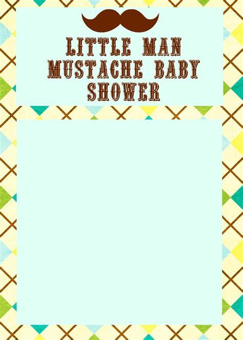 Little Man Mustache Baby Shower Invite Bella's