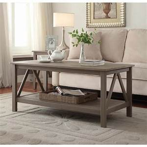 linon home decor titian rustic gray coffee table With rustic grey wood coffee table