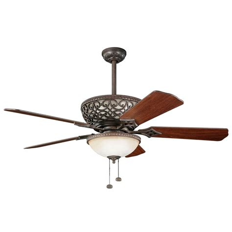 kichler 52 inch ceiling fan with integrated uplight 300113tz destination lighting