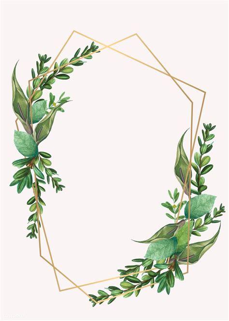 Download premium illustration of Tropical botanical frame ...
