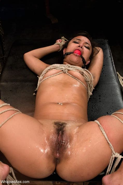 Babe Gets Tied Up And Strap On Anal Fucked By Kinky