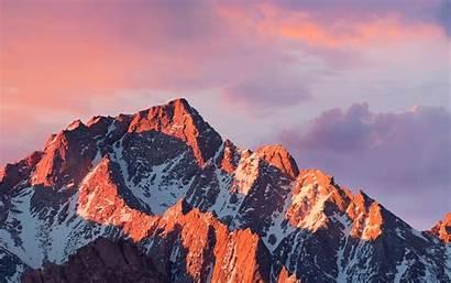 4k Apple Mountain Sierra Sunset Macbook Papers