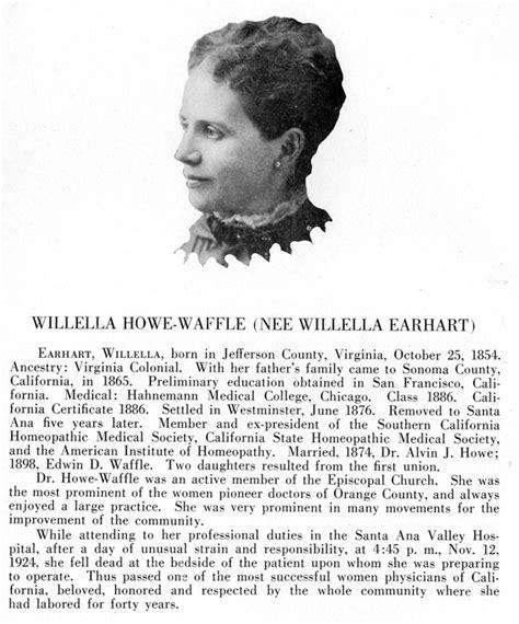 Santa Ana History - Dr. Willella Howe-Waffle -- Orange ...