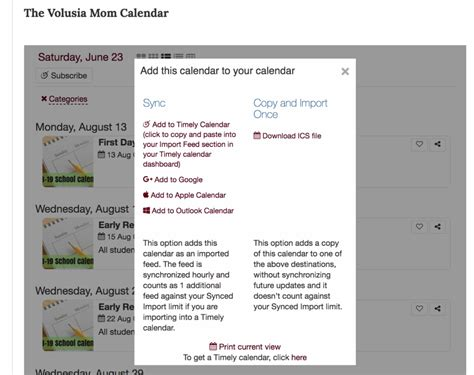 add volusia county school calendar