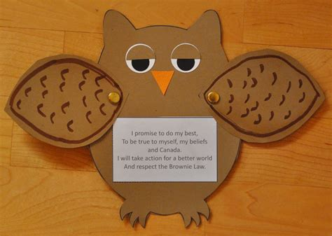 craft promise  enrolment invitation owl