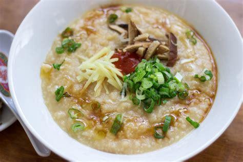 congee recipe ginger chicken jook rice porridge recipe dishmaps