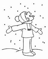 Coloring Snow Winter Funny Kid Season Weather Tasting Hilarious Snowy Template Colornimbus sketch template