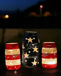 patriotic mason jar lanterns addicted 2 diy With what kind of paint to use on kitchen cabinets for tea lights candle holders
