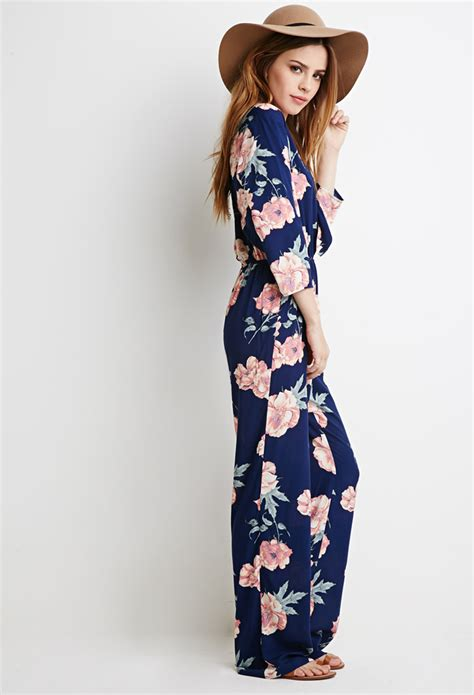 flower jumpsuit forever 21 self tie knotted floral jumpsuit you 39 ve been