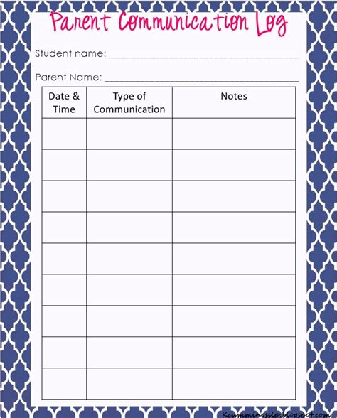Contact The Teacher Template Free by Parent Contact Log Template In Excel Excel Template